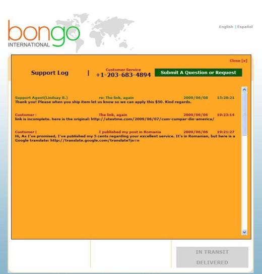 Bongo reply