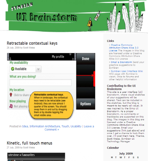 Symbian Brainstorm